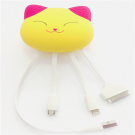招财猫创意硅胶数据线